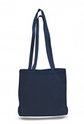 Cotton Canvas Convention Tote, Navy