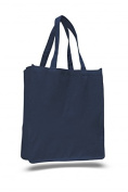 Canvas Jumbo Shopping Tote, Navy