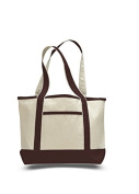 Canvas Small Boat Tote, Chocolate