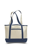 Canvas Small Boat Tote, Navy