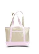 Canvas Small Boat Tote, Light Pink