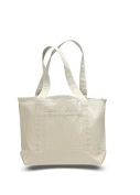 Canvas Small Boat Tote, Natural