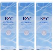 K-Y KY Ultra Gel Personal Lubricant Pack of 3 @ 4.5 oz (133 ml) each