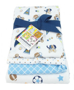 Garanimals 4-Pack Cotton Receiving Blankets, Blue