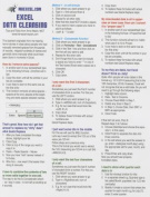 Excel Data Cleansing Tip Card