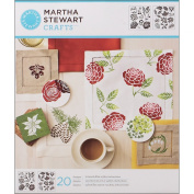 Plaid:Craft Martha Stewart Medium Stencils 2 Sheets/Pkg-Four Seasons 22cm x 25cm 20 Designs