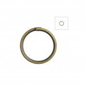 About 420pcs Zacoo Open Jump Rings Shape Round Colour Antique Brass 8x8x0.7 Outside Diameter 8mm