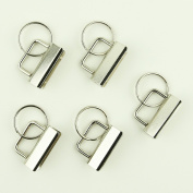 100 Sets - 3.2cm (3.2cm ) - Key Fob Hardware/Key Chain/Wristlet Sets with Split Rings/Key Rings