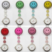 10pcs Smile Face Clip Chain Doctor Nurse Pocket Watch by TJSpecia