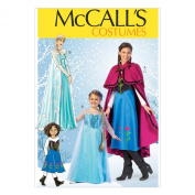McCall Pattern Company M7000 Misses'/Children's/Girls' Costumes, Size KIDS ((3-4)-(5-6)-(7-8)-(10-12)-