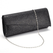 Womens Glitter Shimmer Bling Classy Handbag Evening Party Grab Clutch Bag Purse