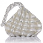 ANDI ROSE Luxury Aluminium Sequins Trihedral Designer Clutch Evening Handbag Mini Tote Bags