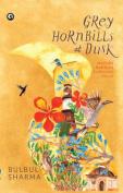 Grey Hornbills at Dusk