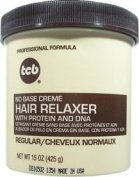 TCB Professional Formula No Base Crème Hair Relaxer with Protein and DNA REGULAR STRENGTH 440ml/425g