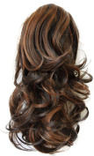 PRETTYSHOP 36cm Hair Piece Ponytail Extension Straight Light Curled Nature Looking Heat-Resisting Different Colours