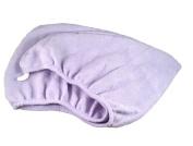 Aquis Microfiber Hair Turban with Button Closure Lavender