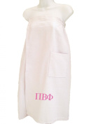 Pi Beta Phi White Towel Wrap