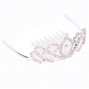 Crazy K & A Mini Charming Rhinestone Tiara Crown Headband Comb Pin #552