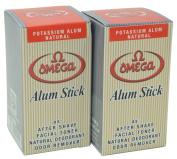 Omega Potassium Alum Stick Natural Aftershave and Toner 360ml