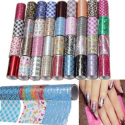 Fashion Design 1 Roll Nail Art Glitter Transfer Foil Tips Decoration ,Sending by random