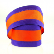 6.4cm Polyester Striped Wired Edge Sports Theme Ribbon
