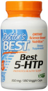 Doctor's Best 5-HTP Veggie Capsules, 100 mg, 180 Count