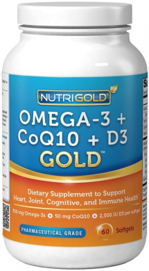 Omega 3 coq10 vitamin d3 gold 700 mg of omega 3 fish for Coq10 and fish oil
