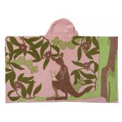 Breganwood Organics Kid's Hooded Towel Pale Rose Kangaroo, Outback Collection