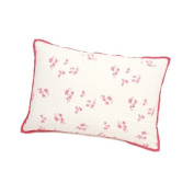 Auggie Quilted Decorative Pillow Cover, Pretty with Pink