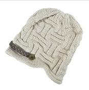 Women Girls Fashion Soft Winter Knitted Cap, Beige