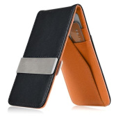 INSTEN Black/Orange Mens Faux Genuine Leather Silver Money Clip Wallets ID Credit Card Holder