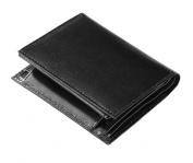 WalterDrake Black Leather RFID Wallet - 20 Pockets