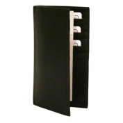 Luxury Divas Black Leather Men's Long Chequebook Holder Wallet