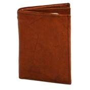 Luxury Divas Burgundy Leather Men's Bi-fold Wallet W/ Coin Pocket