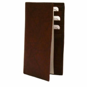 Luxury Divas Burgundy Leather Men's Long Chequebook Holder Wallet
