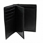 Luxury Divas Slim Bi-Fold Men's Black Wallet W/Coin Holder