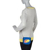 Ashley M University of Kansas Pleated Canvas Shoulder Bag