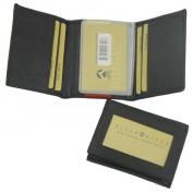 Punita Leathers 02049 Genuine Leather Lambskin Trifold Mens Wallet, Black