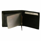 Luxury Divas Brown Leather Men's Wallet With Snap Picture Pocket