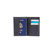 Embassy LULPASS1 Embassy Solid Genuine Leather Passport Cover With Rfid Security
