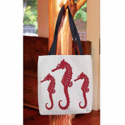 Thumbprintz, Nautical Nonsense Red White Seahorses