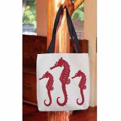 Thumbprintz, Nautical Nonsense Red White Seahorses