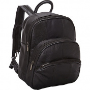 R & R Collections Leather Triple Zip Around Small Backpack