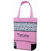 Its A Girls Life DAL-01 Dance Tote in Pink & Dalmatian with Vented Shoe Compartment