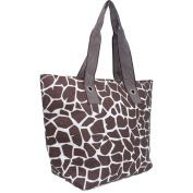 Magid Animal Print Paper Straw Tote Handbag