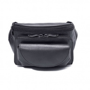 Winn International Cowhide Leather Large Fanny Pack