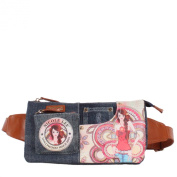 Nicole Lee Denim Marina Print Fanny Pack