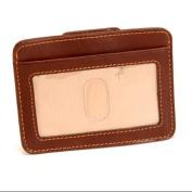 Prima Slim Money Clip Wallet with I.D. Window in Brown