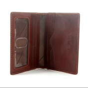 Ultimo Slim Leather Weekend Wallet with I.D. Window in Brown
