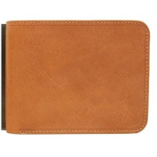Prima Bi-Fold Leather Wallet with I.D. Flap